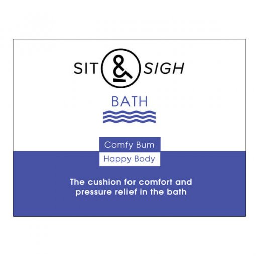 Sit and Sigh BATH cushion-box packaging-front