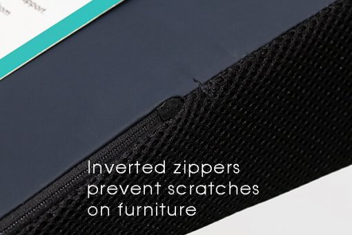Close up of Sit and Sigh ORIGINAL cushion inverted zipper